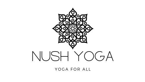 Nush Yoga logo 1 BW