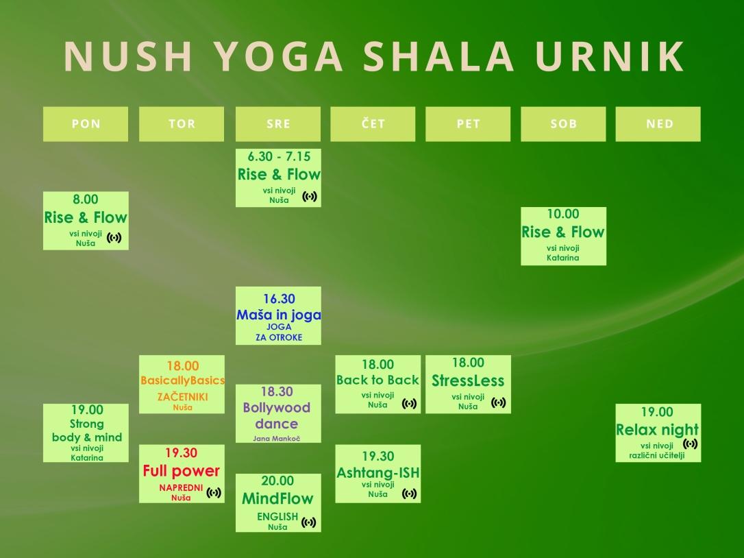 Nush Yoga Shala urnik final + back
